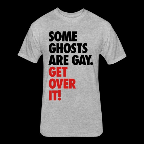 'Get over It' Gay Ghosts - Fitted Cotton/Poly T-Shirt by Next Level