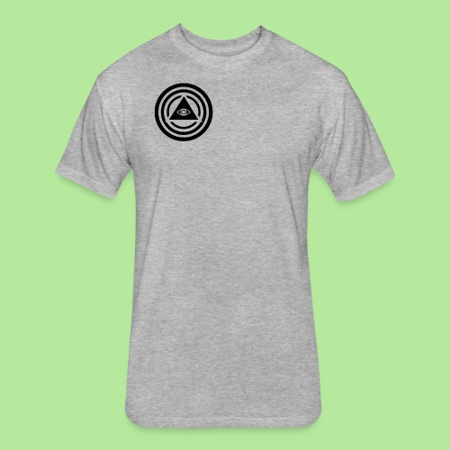 round triangle pyramid il - Fitted Cotton/Poly T-Shirt by Next Level