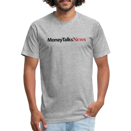 Money Talks News Logo - Fitted Cotton/Poly T-Shirt by Next Level