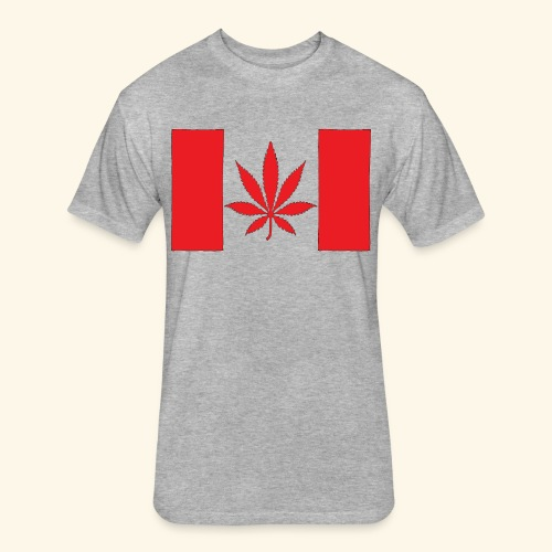Canada's flag - Fitted Cotton/Poly T-Shirt by Next Level