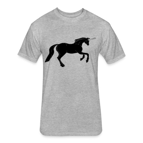 unicorn black - Fitted Cotton/Poly T-Shirt by Next Level
