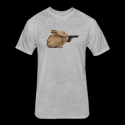 Nikers Bunny Killer2 - Fitted Cotton/Poly T-Shirt by Next Level