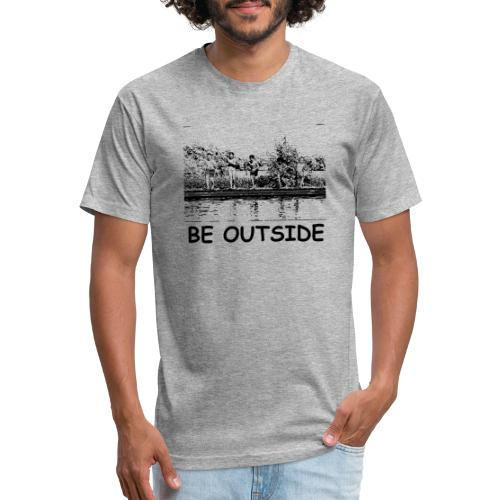 Be Outside - Fitted Cotton/Poly T-Shirt by Next Level