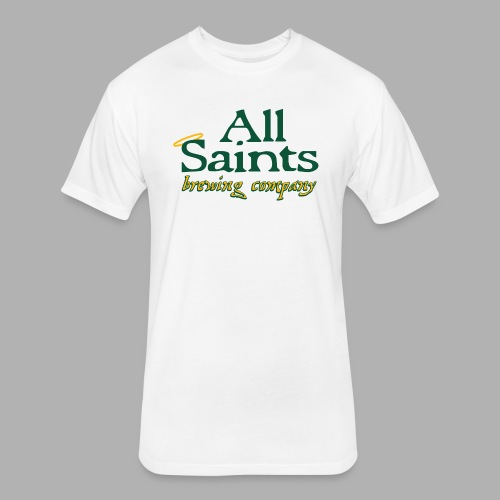 All Saints Logo Full Color - Fitted Cotton/Poly T-Shirt by Next Level