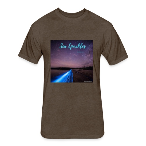 Tasmanian Sea Sparkles - Fitted Cotton/Poly T-Shirt by Next Level