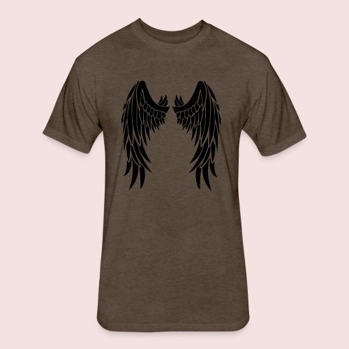 Angel wings - Fitted Cotton/Poly T-Shirt by Next Level