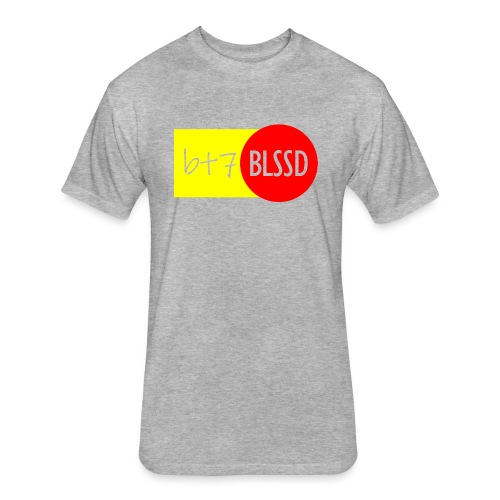 B+7 BLSSD FORMULA YELLOW RED - Fitted Cotton/Poly T-Shirt by Next Level