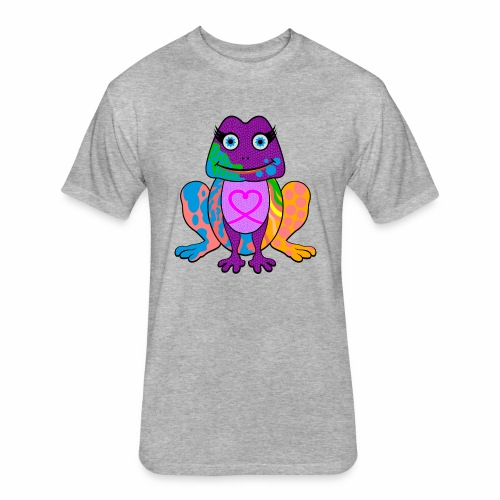 I heart froggy - Fitted Cotton/Poly T-Shirt by Next Level