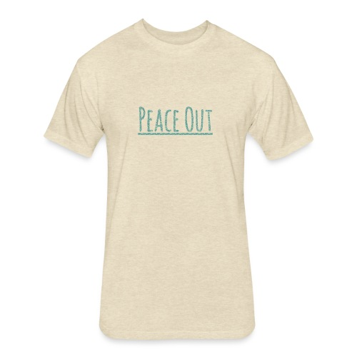 Peace Out Merchindise - Fitted Cotton/Poly T-Shirt by Next Level
