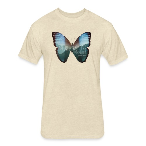 Butterfly_rainforest_3 - Fitted Cotton/Poly T-Shirt by Next Level