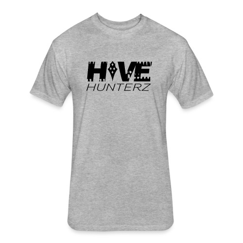 Hive Hunterz Black Logo - Fitted Cotton/Poly T-Shirt by Next Level