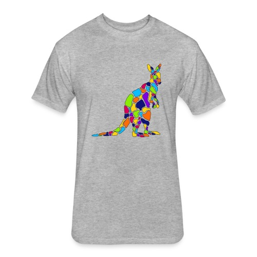 Art Deco kangaroo - Fitted Cotton/Poly T-Shirt by Next Level