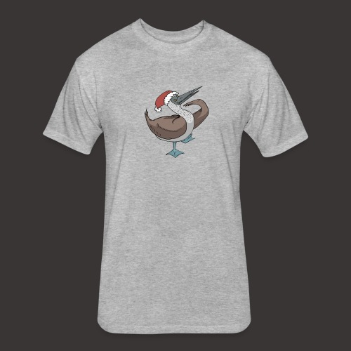 Boobie Bird Xmas Dance - Fitted Cotton/Poly T-Shirt by Next Level