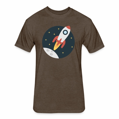 instant delivery icon - Fitted Cotton/Poly T-Shirt by Next Level