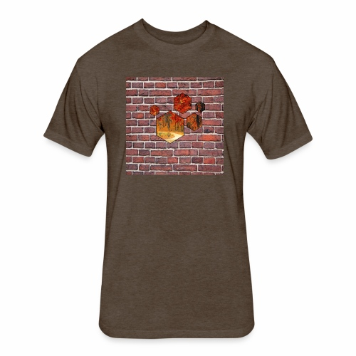 Wallart - Fitted Cotton/Poly T-Shirt by Next Level