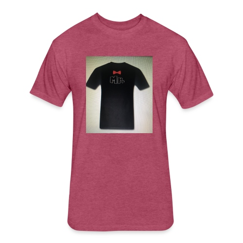 Mr and Mrs t-shirt - Fitted Cotton/Poly T-Shirt by Next Level