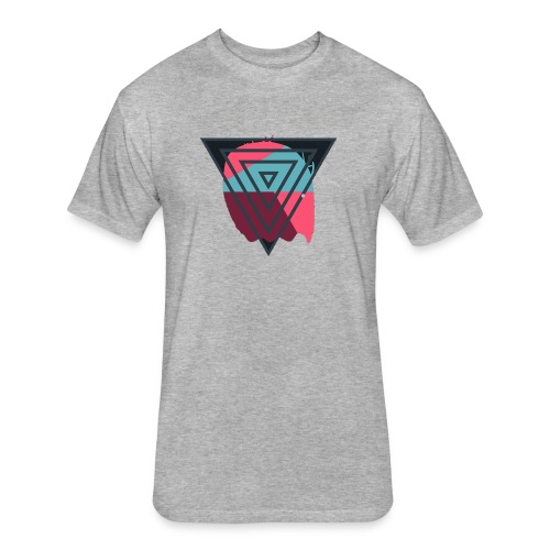 Designer Triangle street wear - Fitted Cotton/Poly T-Shirt by Next Level