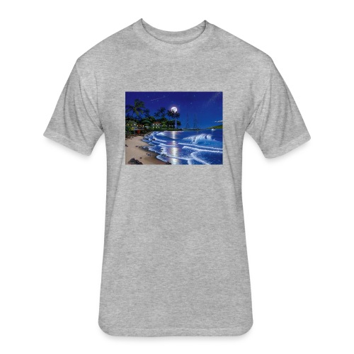 full moon - Fitted Cotton/Poly T-Shirt by Next Level
