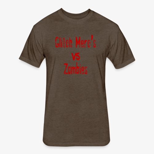 glitch zombie red - Fitted Cotton/Poly T-Shirt by Next Level