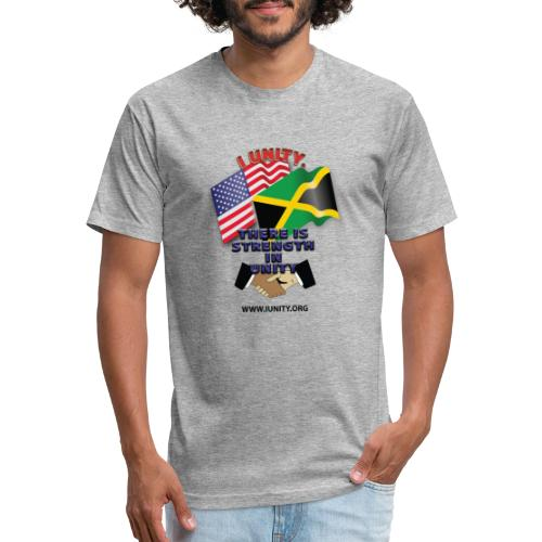 Jamaican flagE01 - Fitted Cotton/Poly T-Shirt by Next Level