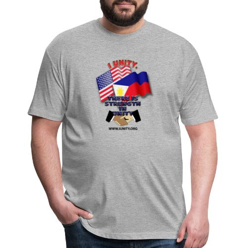 UnityPhilippinoUSA E02 - Fitted Cotton/Poly T-Shirt by Next Level