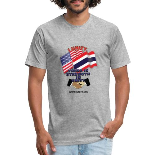 Flag of ThailandE01 - Fitted Cotton/Poly T-Shirt by Next Level