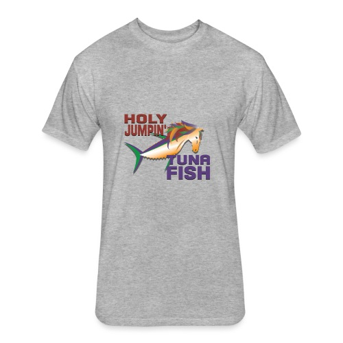 holy jumpin tuna fish - Fitted Cotton/Poly T-Shirt by Next Level
