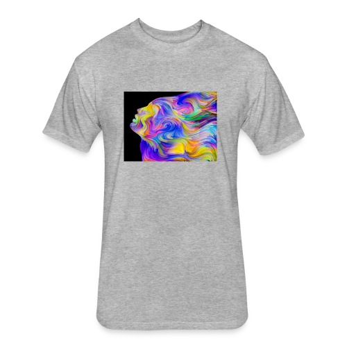 Abstract Contrast Hoodie - Fitted Cotton/Poly T-Shirt by Next Level
