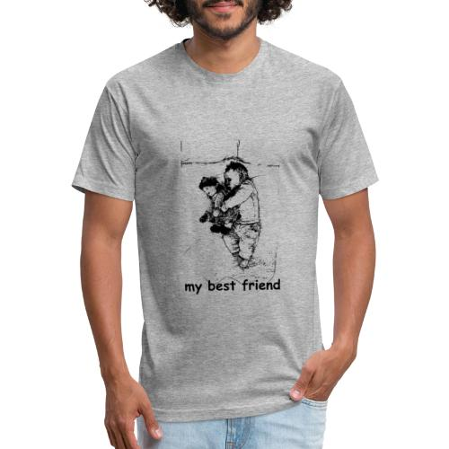 My Best Friend (baby) - Fitted Cotton/Poly T-Shirt by Next Level