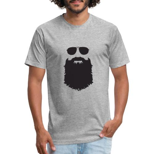 Beardy Silhouette - Fitted Cotton/Poly T-Shirt by Next Level