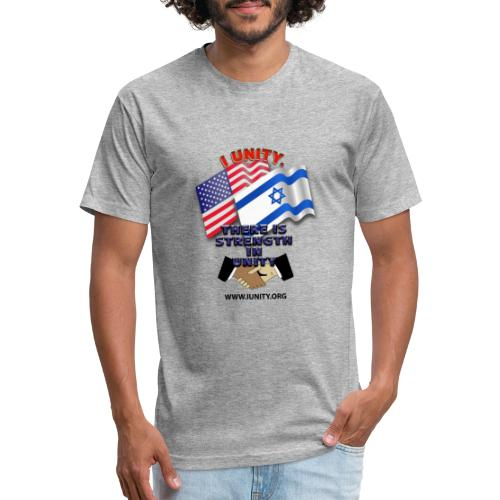 ISRAEL USA E02 - Fitted Cotton/Poly T-Shirt by Next Level