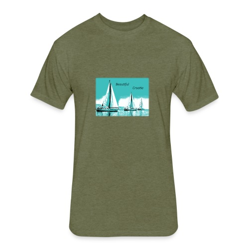 Beautiful Croatia - Fitted Cotton/Poly T-Shirt by Next Level
