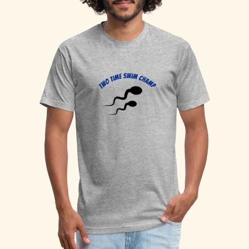 Adult Fathers day swim champ - Fitted Cotton/Poly T-Shirt by Next Level