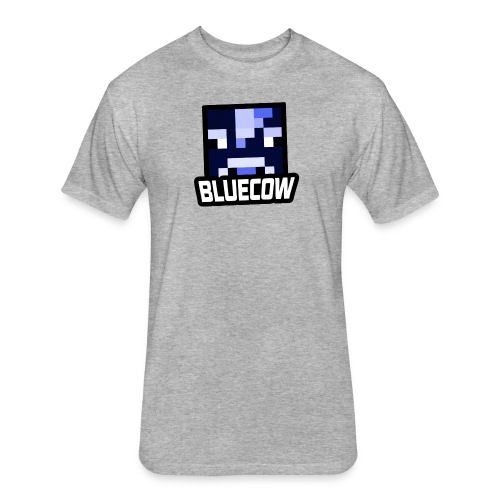BLUECOW Stock Logo! - Fitted Cotton/Poly T-Shirt by Next Level
