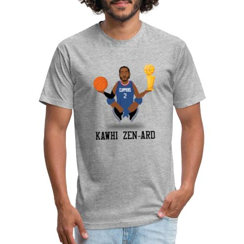 KAWHI ZEN-ARD (BLUE) - Fitted Cotton/Poly T-Shirt by Next Level