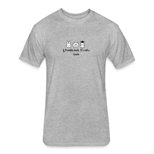 SMILE BACK - Fitted Cotton/Poly T-Shirt by Next Level