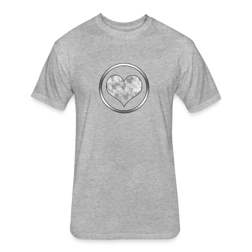 Diamond Heart - Fitted Cotton/Poly T-Shirt by Next Level