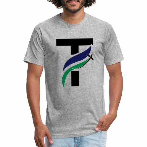 newtakeoff logo - Fitted Cotton/Poly T-Shirt by Next Level