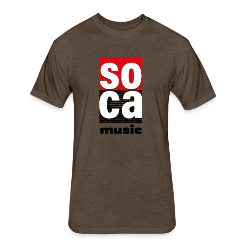 Soca music - Fitted Cotton/Poly T-Shirt by Next Level