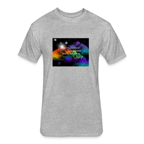 Rainbow - Fitted Cotton/Poly T-Shirt by Next Level