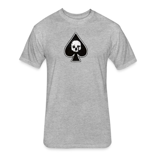 Ace of Spades skull rock - Fitted Cotton/Poly T-Shirt by Next Level