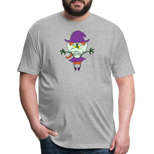 Scary Halloween Witch - Fitted Cotton/Poly T-Shirt by Next Level