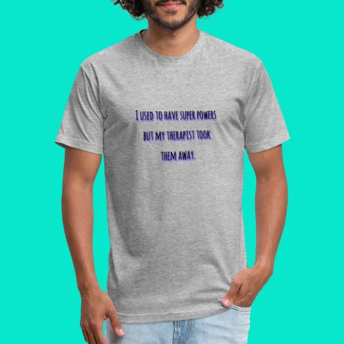 Super Powers - Fitted Cotton/Poly T-Shirt by Next Level