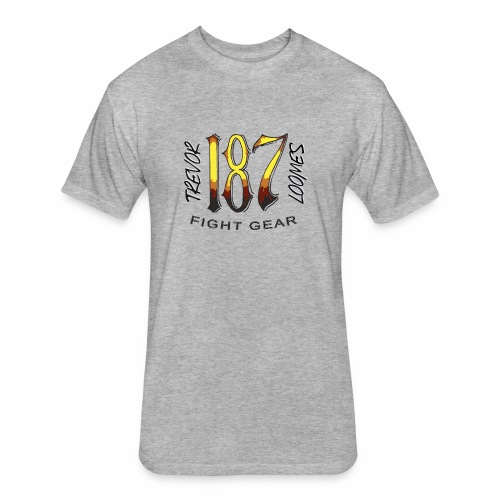 Coloured Trevor Loomes 187 Fight Gear Logo - Fitted Cotton/Poly T-Shirt by Next Level