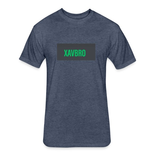 xavbro green logo - Fitted Cotton/Poly T-Shirt by Next Level