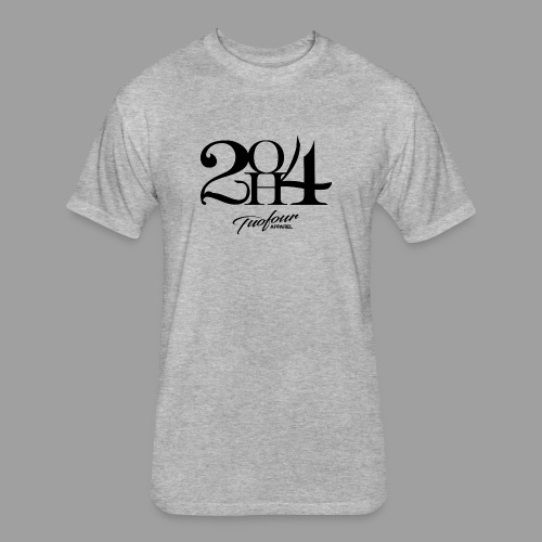 2OH4 - Fitted Cotton/Poly T-Shirt by Next Level