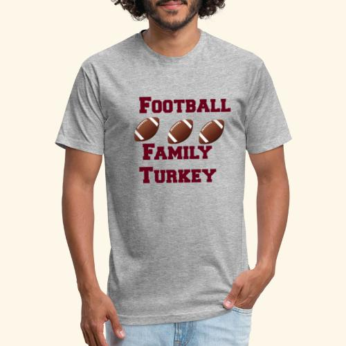 FOOTBALL FAMILY TURKEY TEE - Fitted Cotton/Poly T-Shirt by Next Level