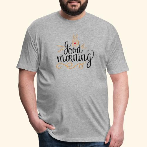 Good Morning Coffee Tee - Fitted Cotton/Poly T-Shirt by Next Level
