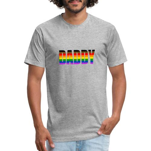 DADDY PRIDE - No.002 - Fitted Cotton/Poly T-Shirt by Next Level