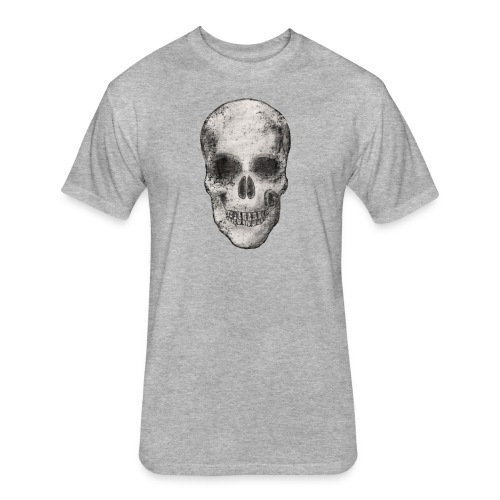 Halloween Funny skull zombie pumpkin Tshirt 14 - Fitted Cotton/Poly T-Shirt by Next Level